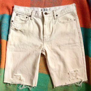 Free People Caroline Distressed Shorts NWOT